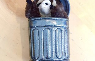 Raccoon in Trashcan Puppet